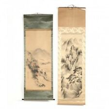 Two Japanese hanging scroll paintings