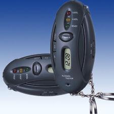 Breathalyzer Alcohol Digital Breath Tester+Timer+Flash Light+ Keyring USA seller