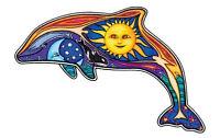 DAY DOLPHIN Eco Peace Earth Love Sun HUGE VINYL STICKER/DECAL Art by Dan Morris