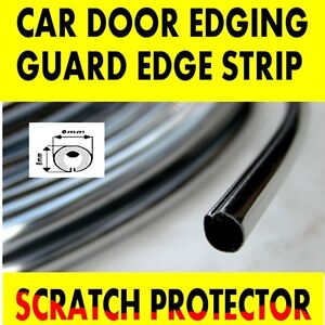 Chrome Car Door Edge Guard Protector Moulding Trim 1 Metre Molding Strip