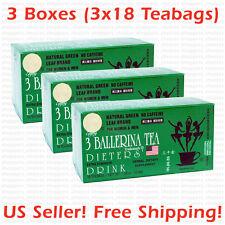 3 Ballerina Tea Dieters' Drink (Extra Strength) -  3 Boxes x 18 Tea bags