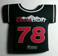 NEW COORS LIGHT 78 COLD AS THE ROCKIES BLACK INSULATOR WARMER COOLER KOOZIE