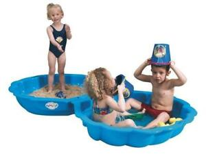 BLUE SHELL CHILDRENS WATER / SAND PLAY PIT 2 HALVES