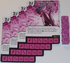 4 X MIR RIAM BEACON IN THE DARK 58/142 War Of Light Dice Masters DC