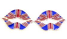 Cool Esmalte Labios Aretes con patrón de Unión Jack