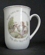 Vintage Holly Hobbie Fine White Porcelain Mug Cup Happy Times Remembered 1978