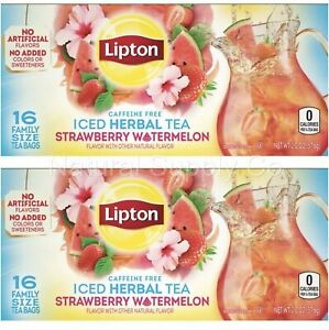 Lipton Strawberry Watermelon Iced Tea Bags 2 Pack (2 Boxes/32 ct)