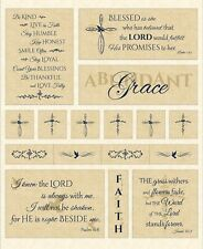 Fabric Abundant Grace Religious Panel Cream Wing and A Prayer