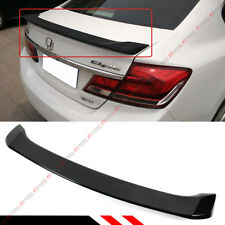 FOR 2012-15 9TH GEN HONDA CIVIC SEDAN FB GLOSS PRE-PAINTED BLK TRUNK SPOILER LID
