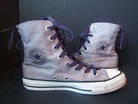 Converse Chuck Taylor Ash Slouchy Hi Top Shoes Womens US Size 8 Purple Laces