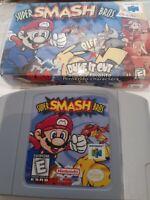 Smash Bros 64 Nintendo N64 Japan super mario retro vintage cartridge Japanese
