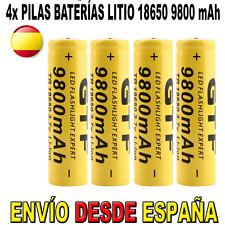 4x PILA 18650 BATERIA RECARGABLE 9800mAh 9800 ION LITIO LI-ION 3,7V POWERBANK SP
