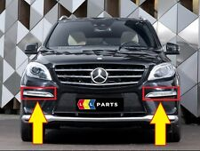 NUOVO Originale Mercedes MB ML63 W166 AMG Paraurti Anteriore DRL Chrome Trim COPPIA Set L + R