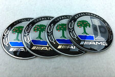 Set Of 4Pcs 65mm Wheels Center Hub Cap Emblem Badge Alloy Decal Sticker For AMG