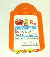 1998 Tyco Sesame Street Elmo Doctor's Kit Medical Kit Replacement Check Up Cards