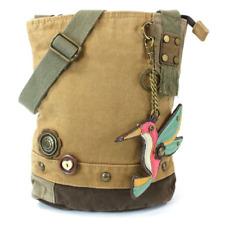 New Chala Handbag Patch Crossbody HUMMINGBIRD Brown Bag Canvas gift School Work