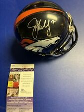 John Elway Signed Mini Helmet JSA COA Denver Broncos James Spence Hof