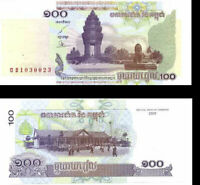 CAMBODIA 100 RIELS 2001 P 53 UNC LOT 100 PCS 1 BUNDLE