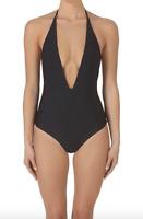 Mikoh Swimwear Black One Piece Swimsuit Women's Size L 47528