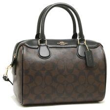 NWT Coach F58312 F32203 Mini Bennett Satchel Handbag Purse Bag Black Brown $295