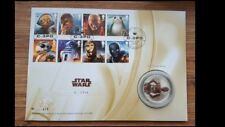 Royal Mail Limited edition 750-Star Wars C3PO Silver Proof Medal/Coin- 411/750