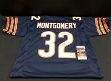 David Montgomery Bears Autographed Navy Football Jersey JSA