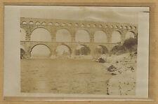 Cpa Carte Photo pont du Gard bt104