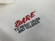 90's vtg D.A.R.E. Polo Shirt Xxl Dare to Keep Kids Off Drugs Fruit Of The Loom