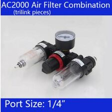 "1/4"" Compressed Air Regulator Filter Water Trap Oil Supply Fitting AC2000 AWT01"