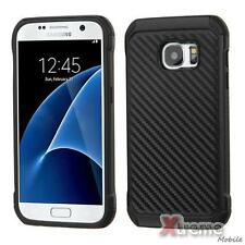 XM-For SAMSUNG Galaxy S7 Carbon Fiber/Black Fusion Astronoot Case Cover