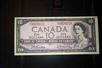 1954 $10 Dollar Bank of Canada Banknote GV8876610 VF 20