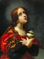 CHOP1165 charm Mary Magdalene girl portrait hand paint oil painting art canvas