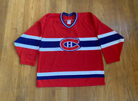 Montreal Canadiens Vintage 90's CCM Maska Jersey Red Mens L EUC RARE NHL