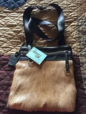 Diane Gail Springbok leather handbag crossbody brown/beige NWT