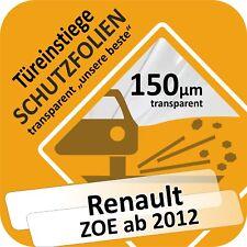 Renault ZOE ab 2012 Türeinstiege Einstiegsleisten Lackschutzfolie Schweller