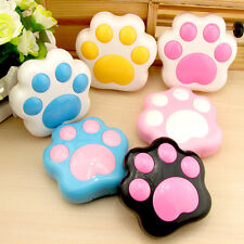 Travel Portable Cute Paw Shape Contact Lens Case Storage Container Holder Box