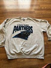 Vintage Carolina Panthers Sweatshirt Size Large Made USA Grey Blue 1993 Football