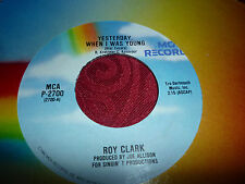 ROY CLARK---YESTERDAY WHEN I WAS YOUNG    45  AMERICAN PRESSING