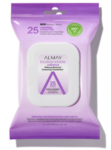 Almay Biodegradable Longwear Makeup Remover Cleansing Towelettes 25 CT (2 PACK)