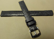 Ladies New Black Speidel GENUINE STINGRAY 12mm Regular Watch Band $59.95 MSRP!