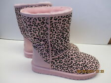 UGG Classic Pink Leopard Boots Womens 7 Suede Warm New