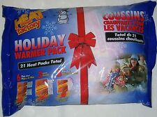 21 Pack Heat Factory Holiday 6 Pair Mini Hand 3 Large Body 3 Pair Toe Warmers