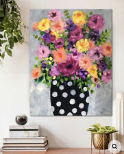 Bright & vibrant floral painting by Robyn Rumbold