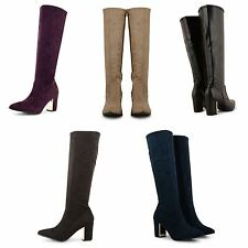Unbranded Women's Mid Heel (1.5-3 in.) Knee High Boots Shoes