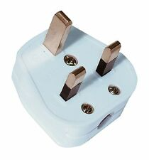 13 Amp 3 Pin Plug Fitted with 3 Amp Fuse- White