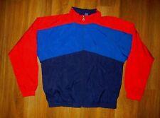 LANDS' END Blue/Red Nylon WINDBREAKER JACKET Track Athletic Coat Size Men LARGE