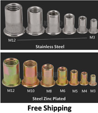 M3 4 5 6 8 10 12 Rivet Nuts Blind Nut Nutsert Rivnut Stainless Steel Zinc Plated