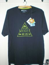 MOUNTAIN WAREHOUSE - NOT ALL WHO WANDER MEN'S TEE T-SHIRT BLACK LARGE L/G 026006
