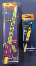 Estes Flying Model Rocket Lot: Super Neon XL And Sizzler