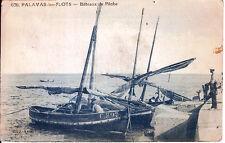 Carte postale, PALAVAS-les-FLOTS, Bateaux de pêche, écrite au revers.